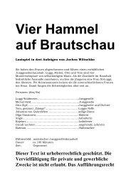 """Auszug von """"Vier Hammel auf Brautschau"""" - Theaterverlag Arno Boas"""