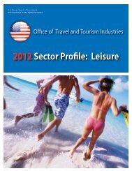 Leisure - International Trade Administration - Department of ...