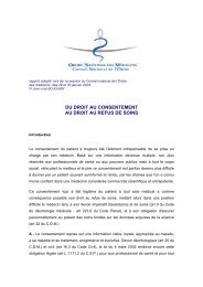 du droit au consentement au droit au refus de soins - Conseil ...