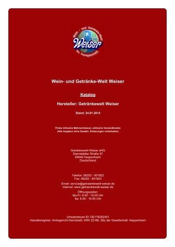 Katalog für Hersteller: Getränkewelt Weiser - und Getränke-Welt ...
