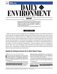 Applying the Endangered Species Act to Global Climate Change