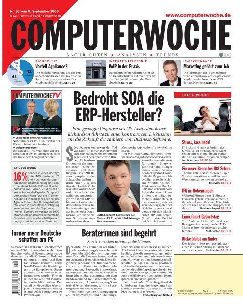 Bedroht SOA die ERP Hersteller