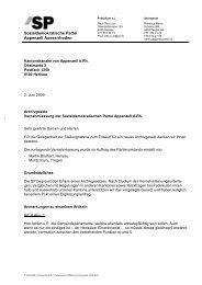 Stellungnahme - SP Appenzell Ausserrhoden