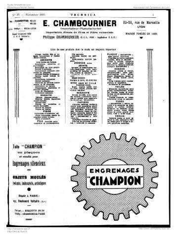 Revue Technica, année 1937, numéro 57 - Histoire de l'École ...