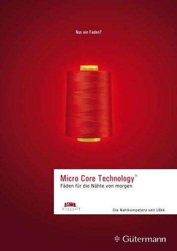 Micro Core Technology® - Gütermann