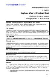 Neptune Wharf, Grinstead Road - Greater London Authority