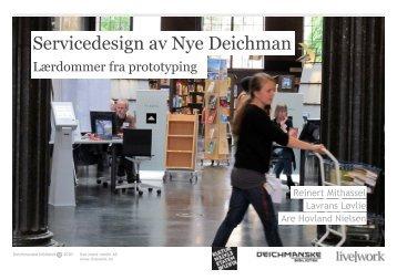 Lærdommer fra prototyping - Deichmanske bibliotek