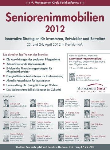 Konferenz: Seniorenimmobilien 2012 - Management Circle AG