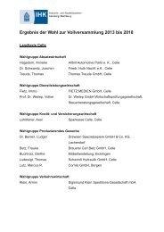 Ergebnis der Wahl zur Vollversammlung 2013 bis 2018 - Celleheute