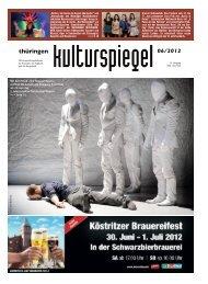 9. Juni · 19.30 Uhr - Thüringen Kulturspiegel