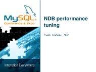 NDB performance tuning