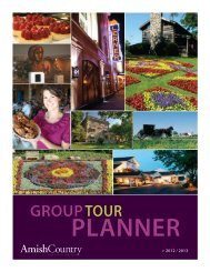 Group Tour Planner Guide - Amish Country