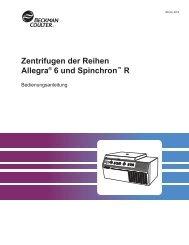 Zentrifugen der Reihen Allegra® 6 und Spinchron™ R
