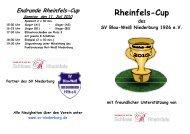 Endrunde Rheinfels-Cup Sonntag, den 11. Juli 2010