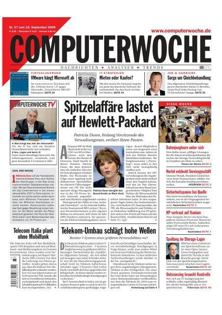 SpitzelaffBre lastet auf Hewlett‡Packard