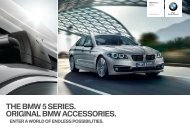 THE BMW  SERIES. ORIGINAL BMW ACCESSORIES.