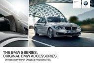 THE BMW  SERIES. ORIGINAL BMW ACCESSORIES.