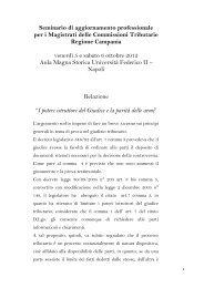 Relazione Gravina - Consiglio di Presidenza della Giustizia Tributaria