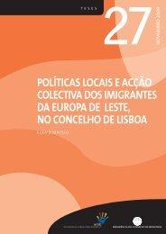 Políticas locais e acção colectiva dos imigrantes da Europa de Leste