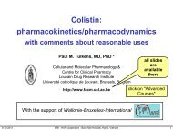 Colistin - Cellular and Molecular Pharmacology - UCL