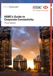 HSBC's Guide to Corporate Connectivity - Website Maintenance