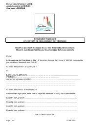 Contrat de prélèvement automatique 2010 - Cinq-Mars-la-Pile