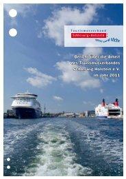 Arbeitsbericht 2011 - Tourismusverband Schleswig-Holstein