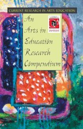 An Arts in Education Research Compendium - California Alliance for ...