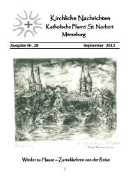Ausgabe Nr. 28, September 2012 - Katholische Pfarrei St. Norbert ...