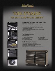 Blackhawk By Proto - Tool Storage Top Chests and ... - Eoss.com