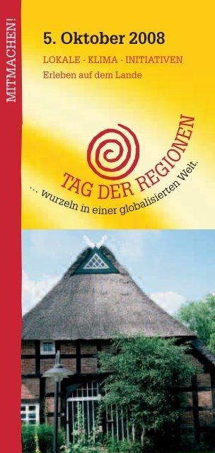 5. Oktober 2008 - TAG DER REGIONEN Niedersachsen Bremen