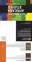 2013 Africana Studies - Wayne State University Press