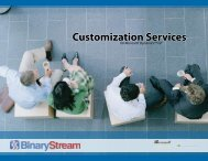 Customization Services - Binary Stream