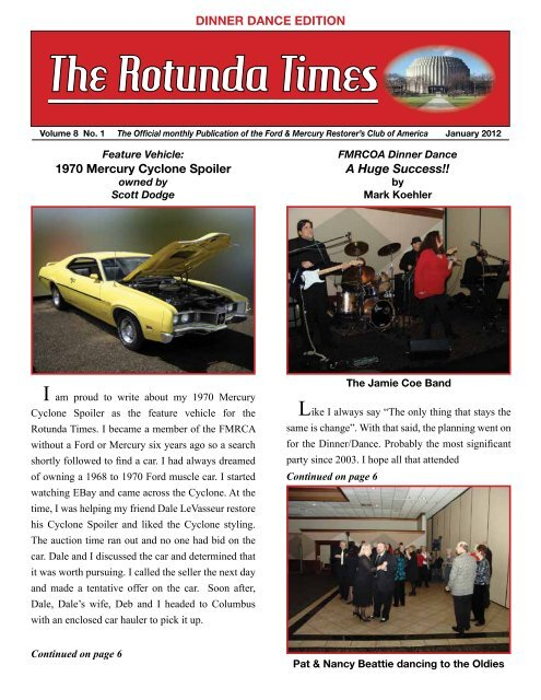 January 2012 - Ford & Mercury Restorers Club of America