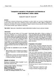 Comparative evaluation of Bupivacaine and Ketamine as spinal ...