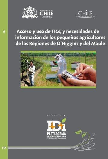 Acceso y uso de TICs, y necesidades de información de los ...