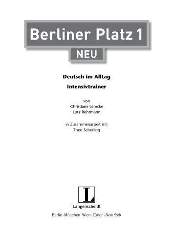 das lernen sie in teil 1 von berliner platz 2 neu. Black Bedroom Furniture Sets. Home Design Ideas