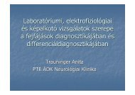 Laboratóriumi és képalkotó vizsgálatok szerepe a fejfájások ...