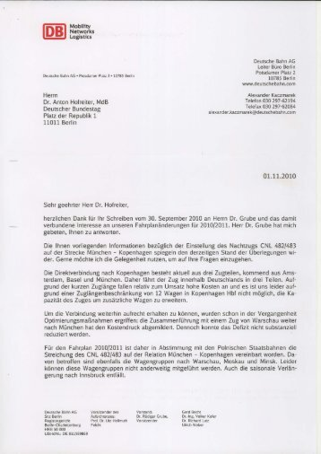 Herrn Dr. Anton Hofreiter, MdB Deutscher Bundestag Platz der ...