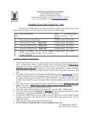 TENDER CUM ACUTION NOTICE NO. 7 /2011 The Director, CSSRI ...