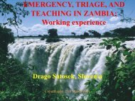 Emergency, triage, and teaching in Zambia: Working experience