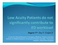 Nagree Y1,2, Dey I2, Cooper J3 - Emergency Care Institute