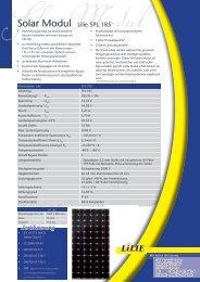 Solar Modul Lilie SPL 185 - Activity Solar