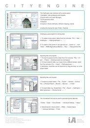 C I T Y E N G I N E - iA – Chair of Information Architecture