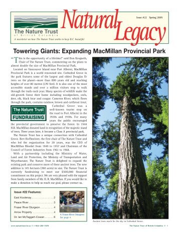 Spring Newsletter 2005 - Nature Trust of British Columbia