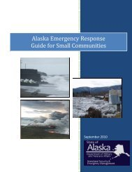 Alaska Emergency Response Guide for Small ... - DHS&EM
