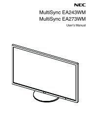 NEC EA243WM user's manual.PDF - NEC Display Solutions