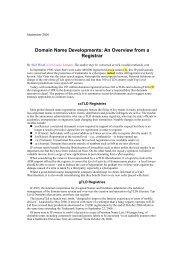 BNA International September 2006 Domain Name ... - Com Laude