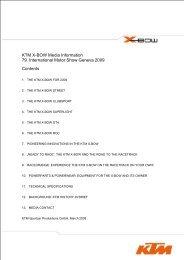 KTM X-BOW Media Information - 79. International Motor