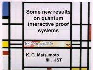 Some new results on quantum interactive proof systems